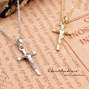 【 定番人気!】 シンプルだからこそ際立つ神秘的な雰囲気☆大人キリストクロスネックレス!SL-1021