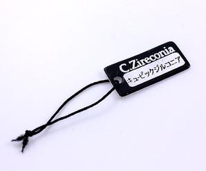【副資材】Cubic Zirconiaネームタグ/キュービックジルコニア商品タグ/ディスプレイに♪Ss-t001